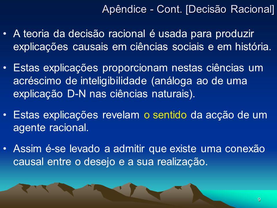 Apêndice - Cont. [Decisão Racional]
